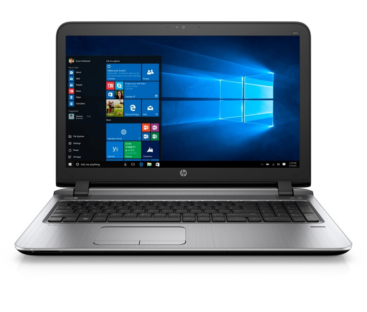 "HP ProBook 450 G3 15.6"" HD/i3-6100U/4GB/500GB/DVD/VGA/HDMI/RJ45/WIFI/B"